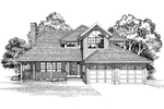Traditional House Plan Front of Home - 062D-0461 | House Plans and More