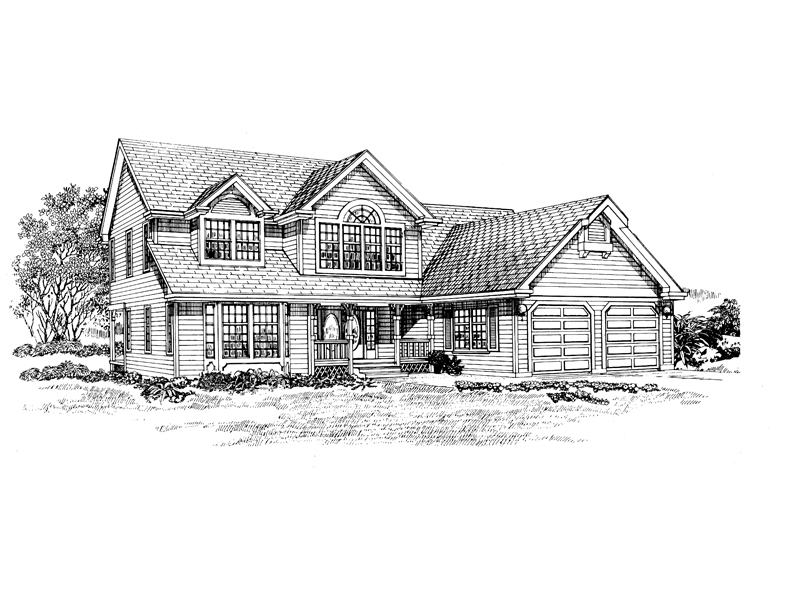 Traditional House Plan Front of Home - 062D-0463 | House Plans and More