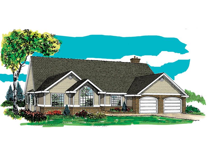 Traditional House Plan Front of Home - 062D-0464 | House Plans and More