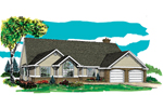 Ranch House Plan Front of Home - 062D-0464 | House Plans and More