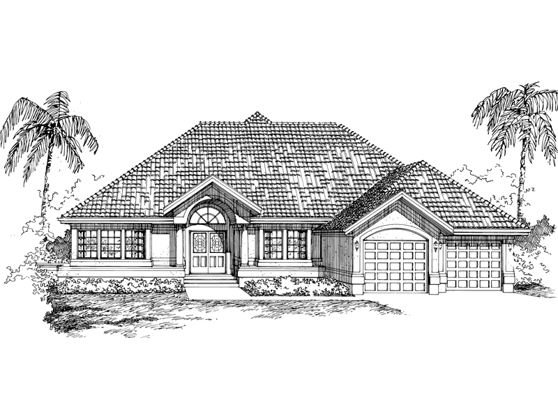 Sunbelt Home Plan Front of Home - 062D-0465 | House Plans and More