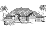 Ranch House Plan Front of Home - 062D-0465 | House Plans and More