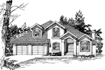 Sunbelt Home Plan Front of Home - 062D-0466 | House Plans and More