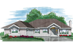 Ranch House Plan Front of Home - 062D-0467 | House Plans and More