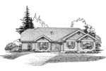 Traditional House Plan Front of Home - 062D-0469 | House Plans and More