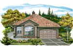 Ranch House Plan Front of Home - 062D-0470 | House Plans and More