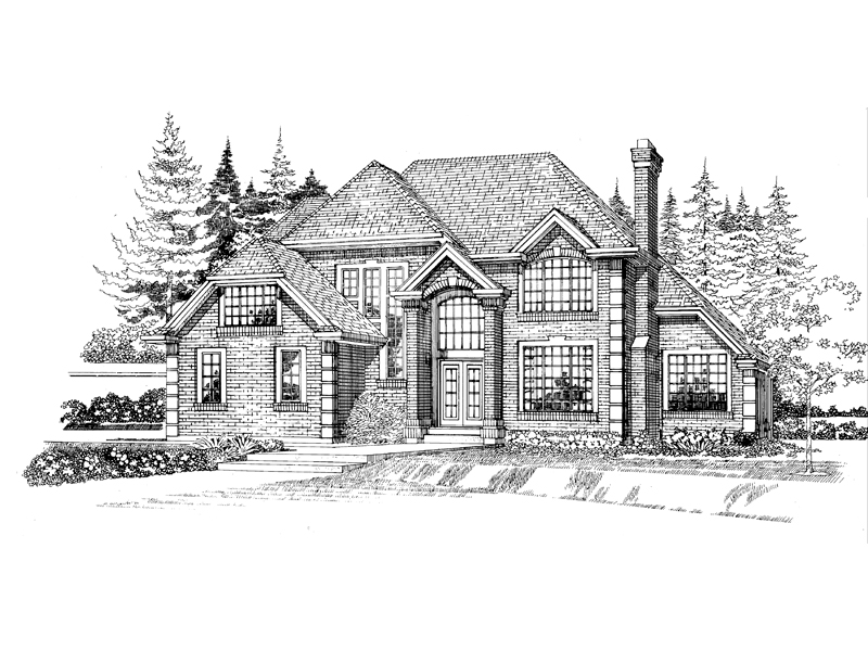 Luxury House Plan Front of Home - 062D-0471 | House Plans and More