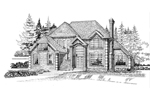 Traditional House Plan Front of Home - 062D-0471 | House Plans and More
