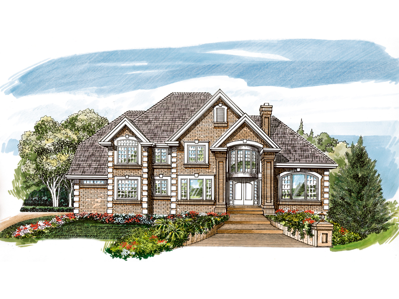 Traditional House Plan Front of Home - 062D-0472 | House Plans and More