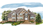 Luxury House Plan Front of Home - 062D-0472 | House Plans and More