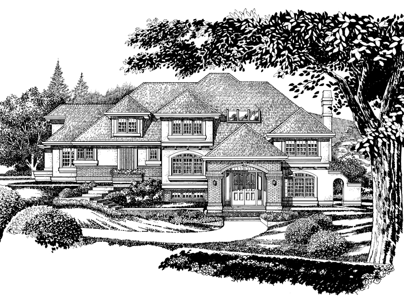 Traditional House Plan Front of Home - 062D-0473 | House Plans and More