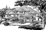 Luxury House Plan Front of Home - 062D-0473 | House Plans and More