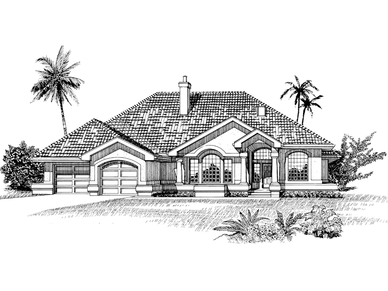 Ranch House Plan Front of Home - 062D-0474 | House Plans and More