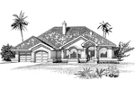 Sunbelt Home Plan Front of Home - 062D-0474 | House Plans and More