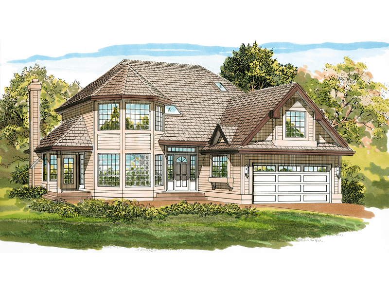 Traditional House Plan Front of Home - 062D-0475 | House Plans and More