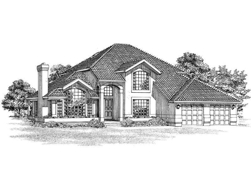 Sunbelt Home Plan Front of Home - 062D-0476 | House Plans and More
