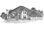 Santa Fe House Plan Front of Home - 062D-0476 | House Plans and More