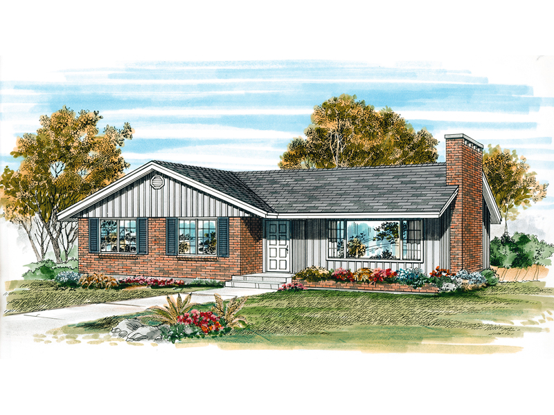Traditional House Plan Front of Home - 062D-0478 | House Plans and More
