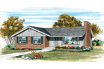 Ranch House Plan Front of Home - 062D-0478 | House Plans and More