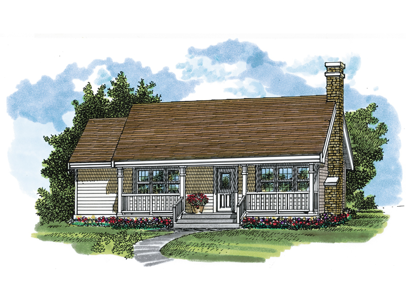 Ranch House Plan Front of Home - 062D-0479 | House Plans and More