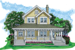 Country House Plan Front of Home - 062D-0480 | House Plans and More
