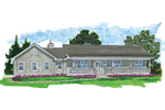 Ranch House Plan Front of Home - 062D-0481 | House Plans and More