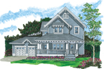 Country House Plan Front of Home - 062D-0482 | House Plans and More