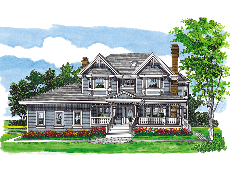 Country House Plan Front of Home - 062D-0484 | House Plans and More