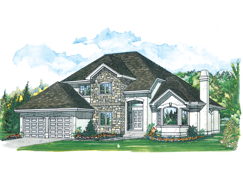 Contemporary House Plan Front of Home - 062D-0485 | House Plans and More