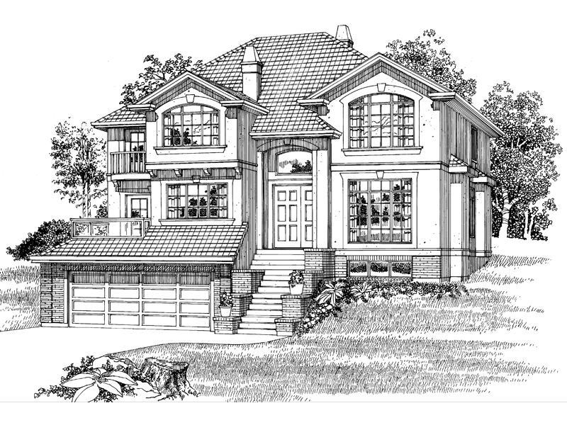 Sunbelt Home Plan Front of Home - 062D-0486 | House Plans and More