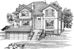 Luxury House Plan Front of Home - 062D-0486 | House Plans and More