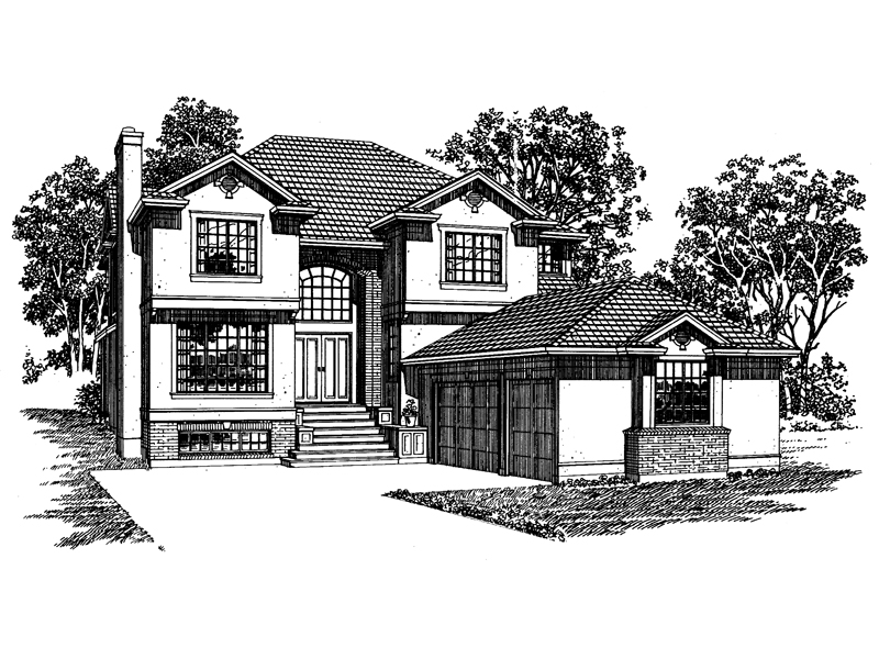 Luxury House Plan Front of Home - 062D-0487 | House Plans and More