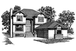 Contemporary House Plan Front of Home - 062D-0487 | House Plans and More