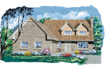 Traditional House Plan Front of Home - 062D-0490 | House Plans and More