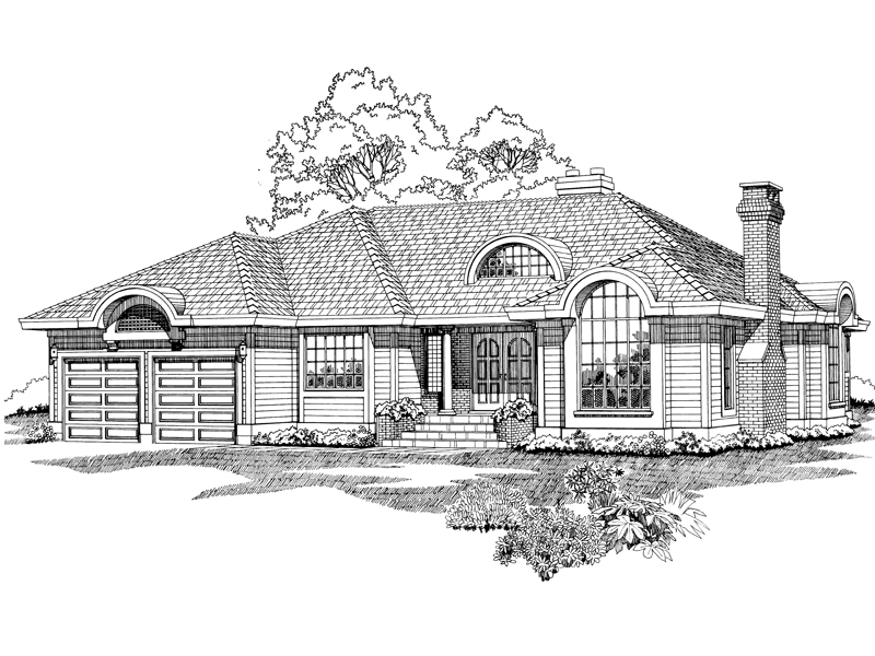 Traditional House Plan Front of Home - 062D-0493 | House Plans and More