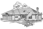 Ranch House Plan Front of Home - 062D-0493 | House Plans and More