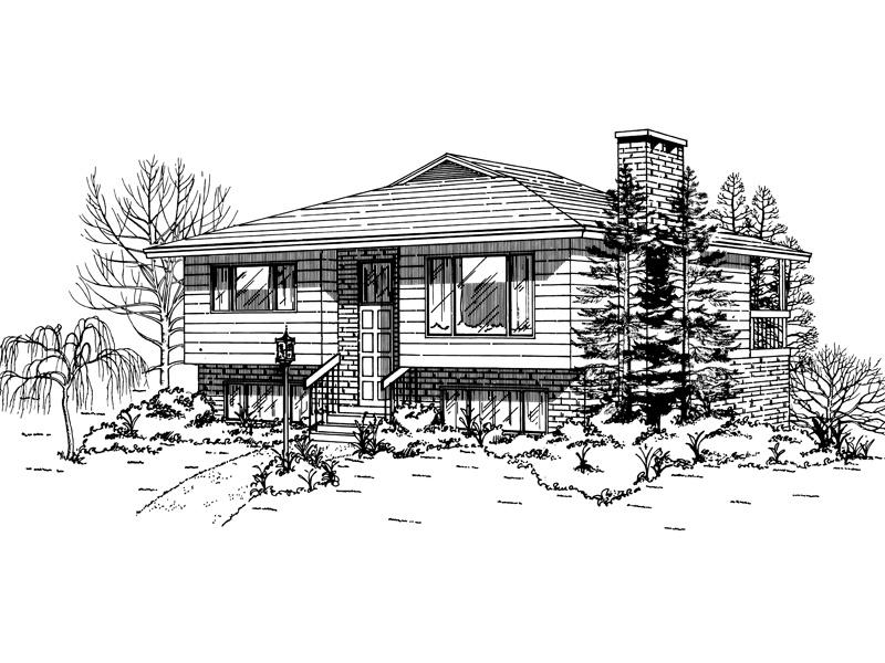 Ranch House Plan Front of Home - 062D-0494 | House Plans and More