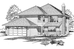 Traditional House Plan Front of Home - 062D-0497 | House Plans and More