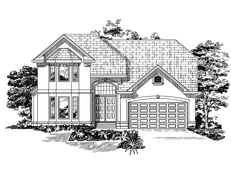 Modern Home With Bay Windows