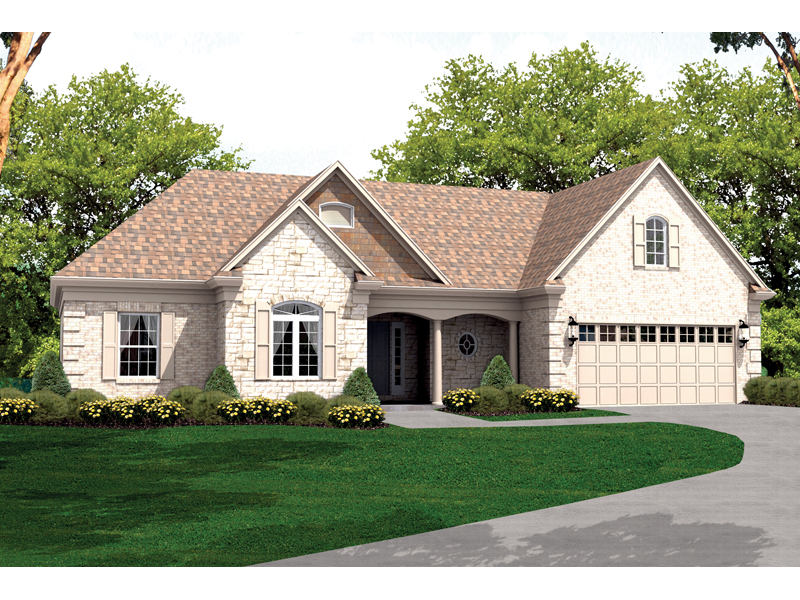 Ranch House Plan Front of Home 065D-0022