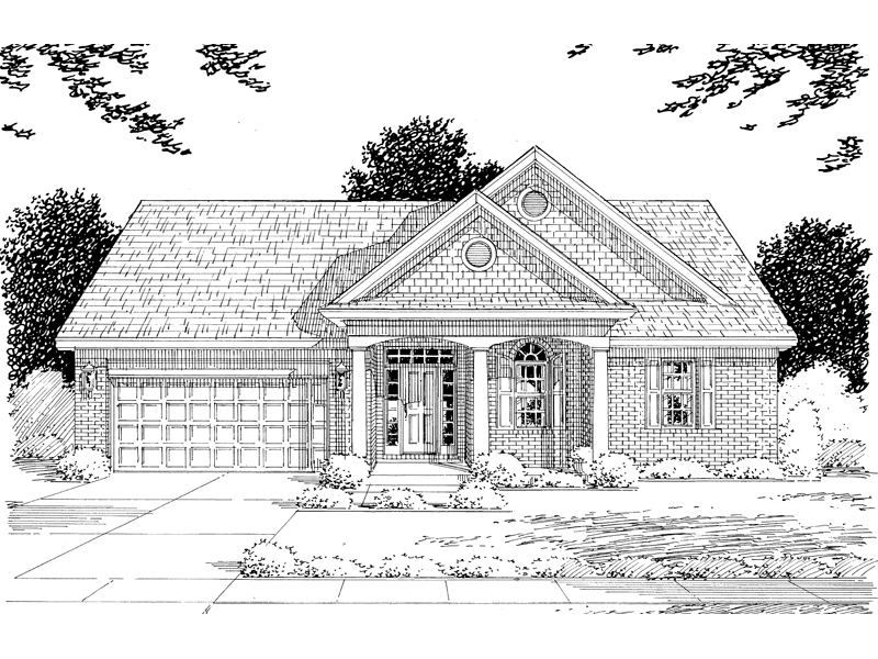 Traditional House Plan Front of Home - 065D-0032 | House Plans and More