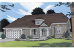 Arched, Columned Entrance Adds Sophistication To This Plan