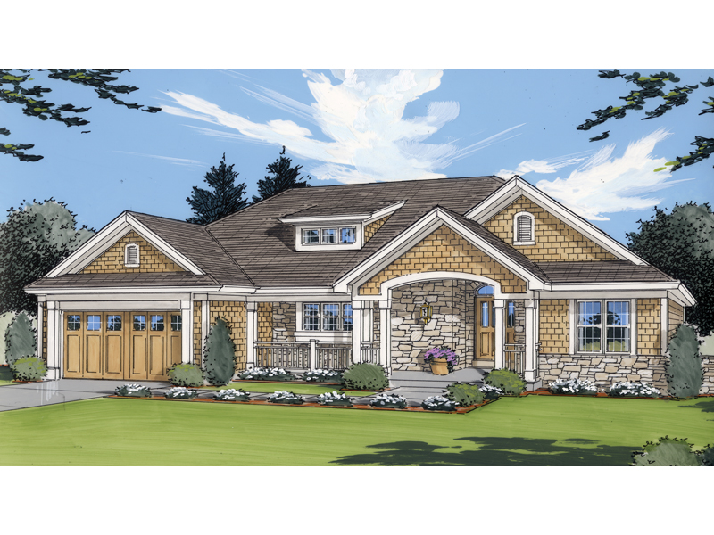 Carson hill craftsman home plan 065d 0065 house plans for Shingle home plans