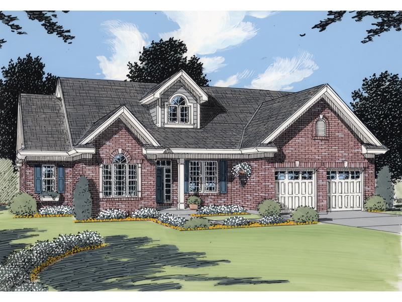 Country House Plan Front of Home - 065D-0071 | House Plans and More
