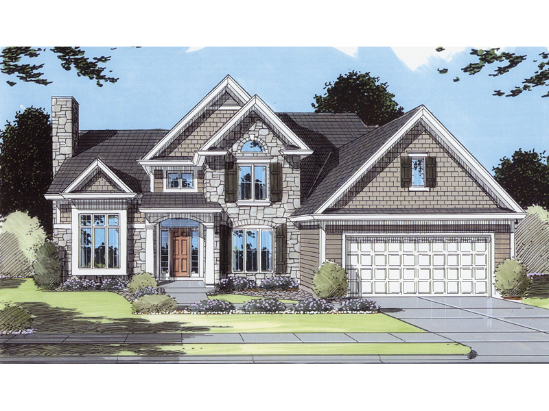 Cozy, Traditional Home Plan With High Styled Façade