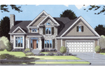 Cozy, Traditional Home Plan With High Styled Faade 