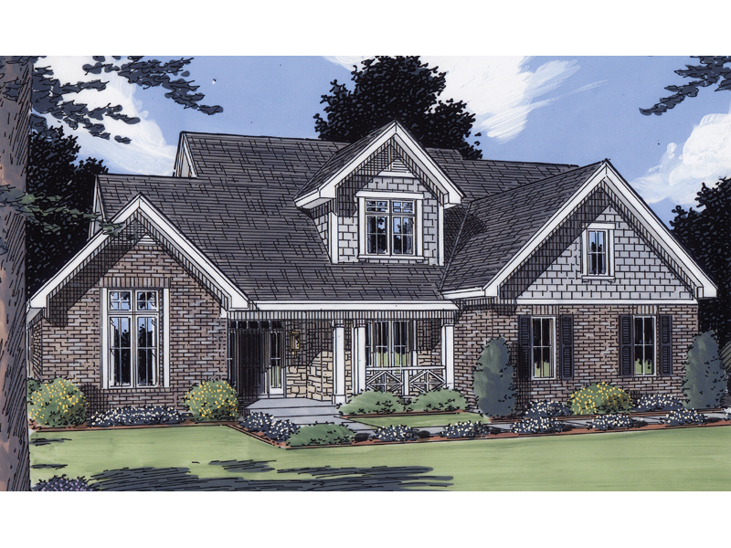 Traditional Country Home Plan With Stone And Shingle Dcor 