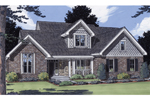 Traditional Country Home Plan With Stone And Shingle Décor