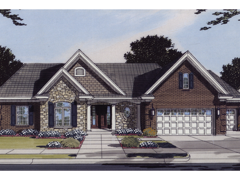 Shingle House Plan Front of Home 065D-0095