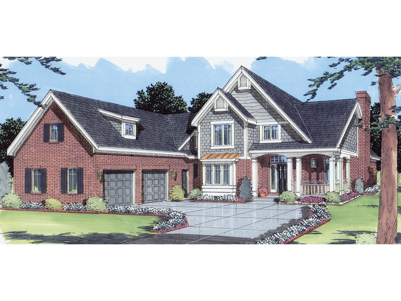 Shingle House Plan Front of Home - 065D-0118 | House Plans and More
